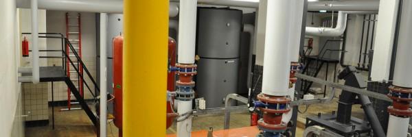 Interieur biomassaketel