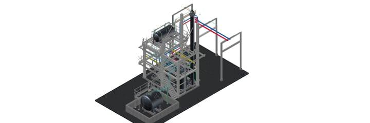 Afton Chemical, thermische olie-installatie