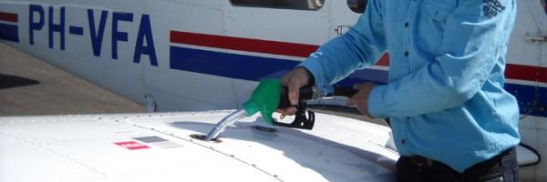 Tankplaats voor vliegtuigen