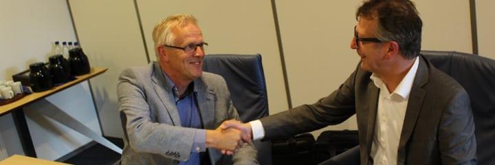 John Dijkman (Hamer) en Hans de Meijer (Ericsson Broadcast Services)